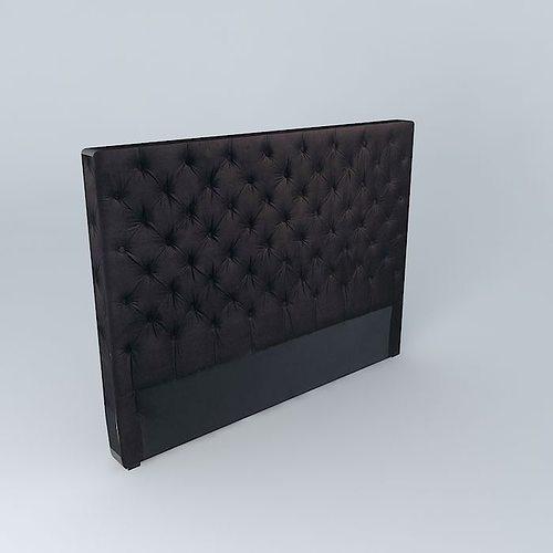 Black headboard 3D model
