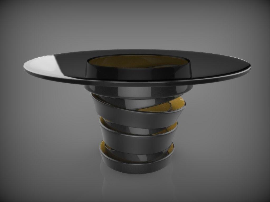 Modern black round table - Modern Circle Table 3d Model Obj Blend 1