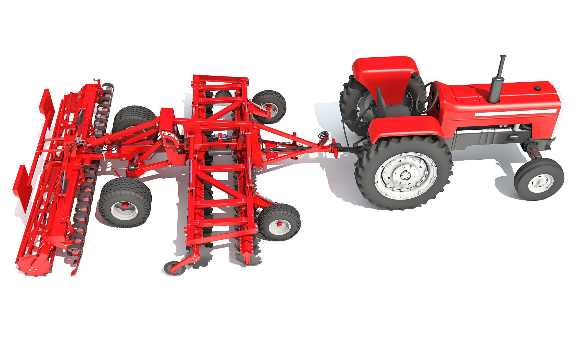 Tractor with Disc Harrow