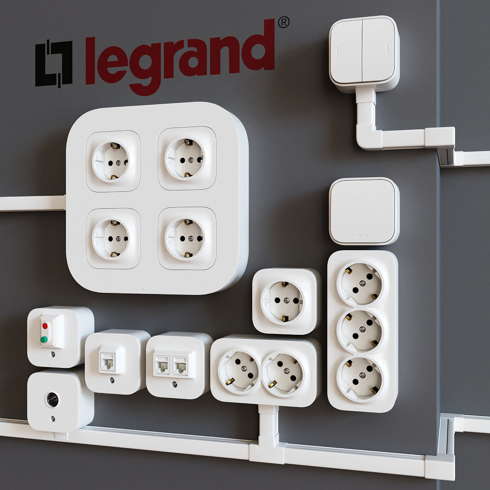 Legrand Quteo surface-mounted sockets and switches