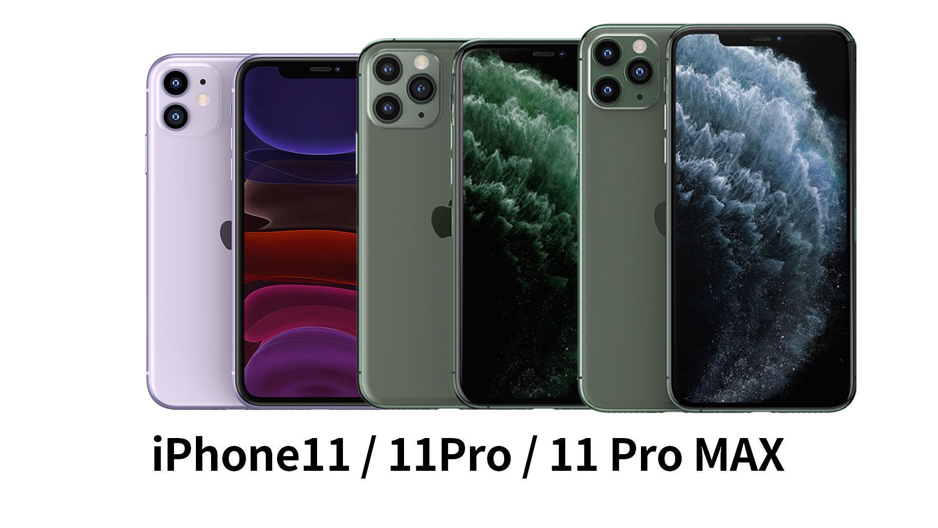 2019 Apple iphone 11 11Pro 11ProMax mobile phone 3D model