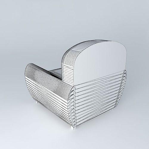 ... Oxford Leather Chair 3d Model Max Obj 3ds Fbx Stl Skp 5