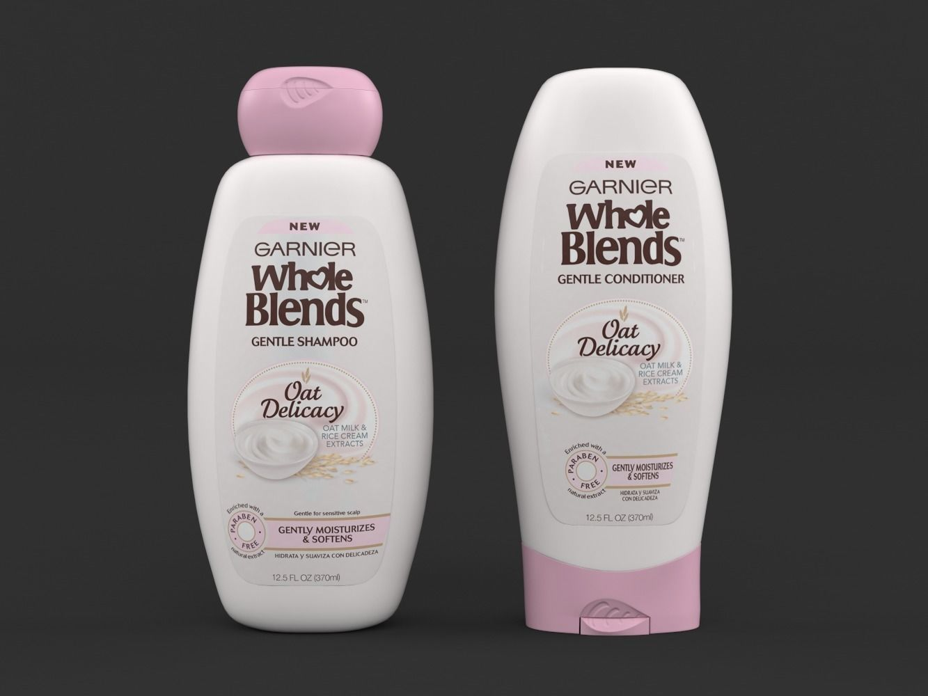 Garnier Whole Blends Oat Delicacy Gentle Shampoo and Conditioner