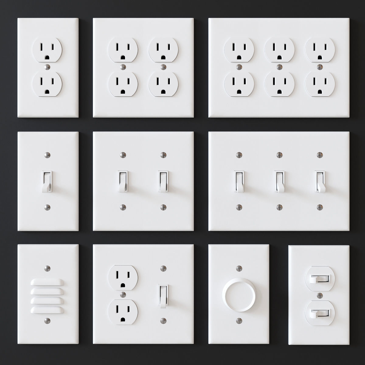US electrical outlets and switches