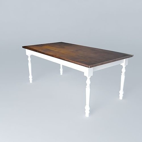 Dining table 3d model max obj 3ds fbx stl skp for Dining room table 3ds max