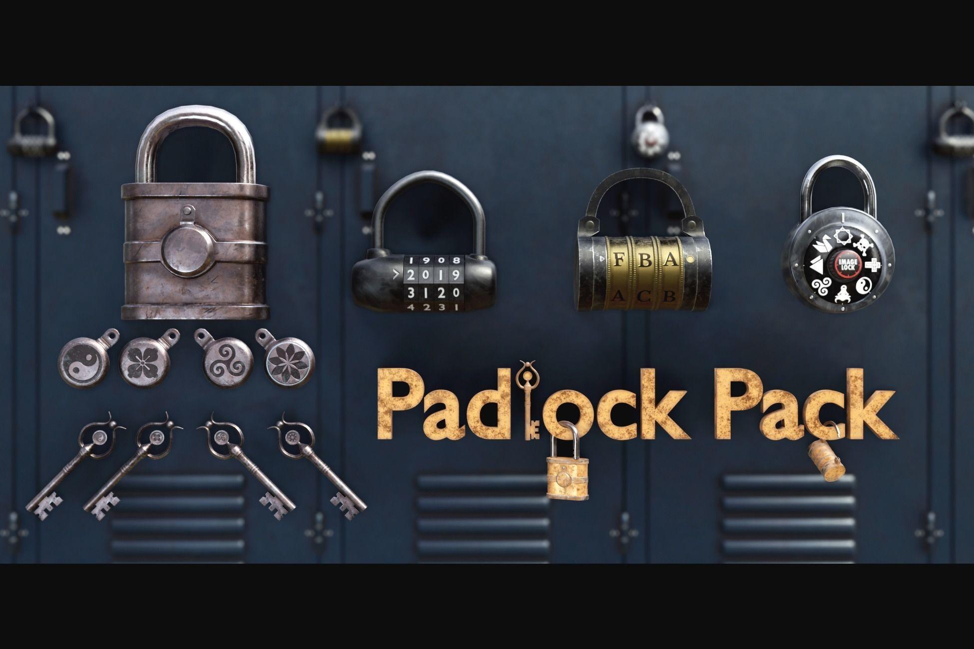 Padlock Pack - PBR Game Ready