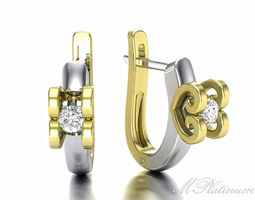 double heart earring for the infinite passion8 3d model stl 3dm