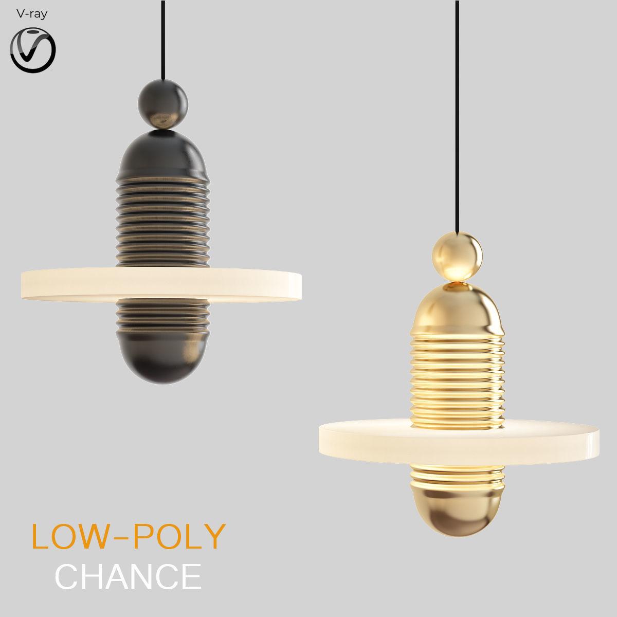 Chance chandelier 3d model
