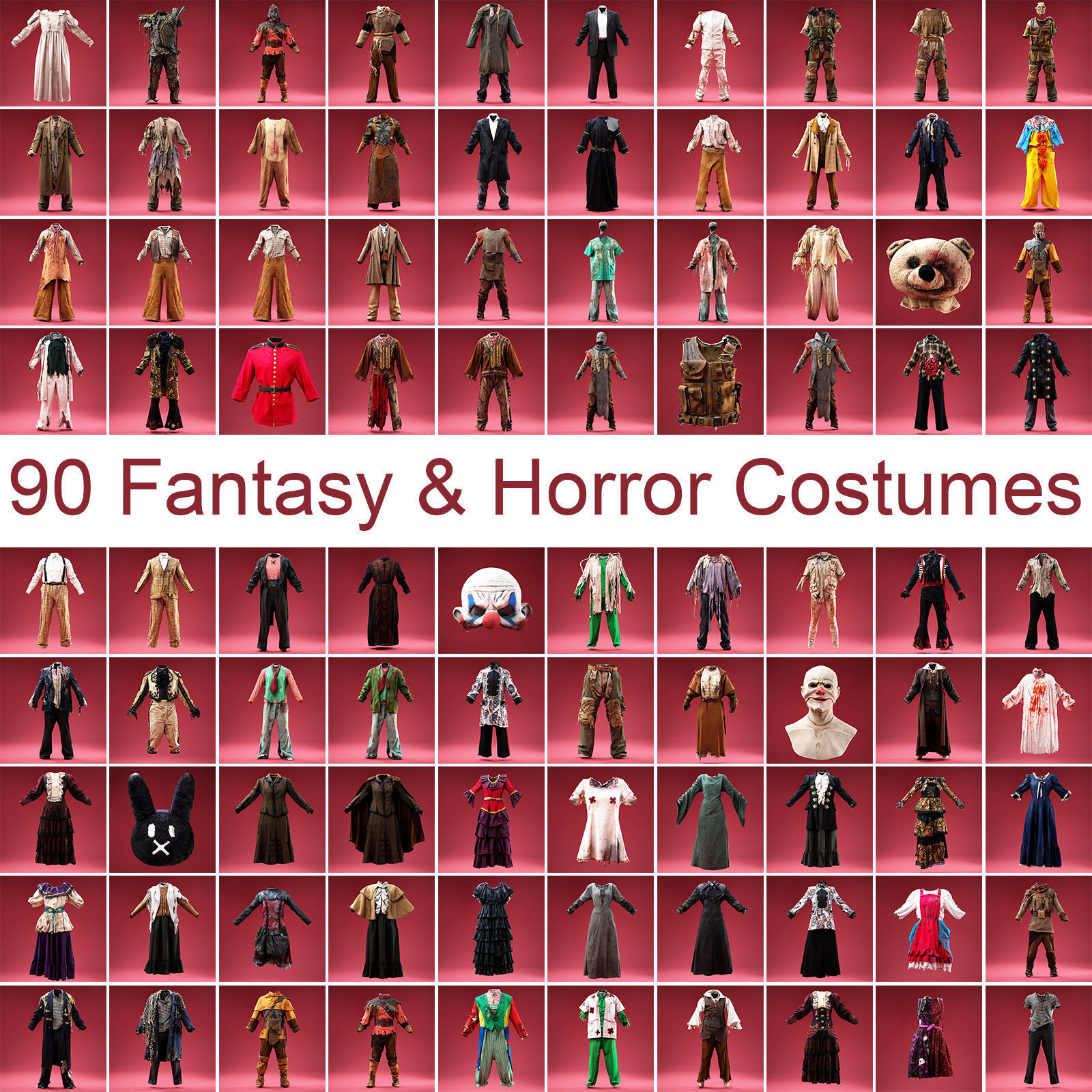 90 Fantasy and Horror Costumes