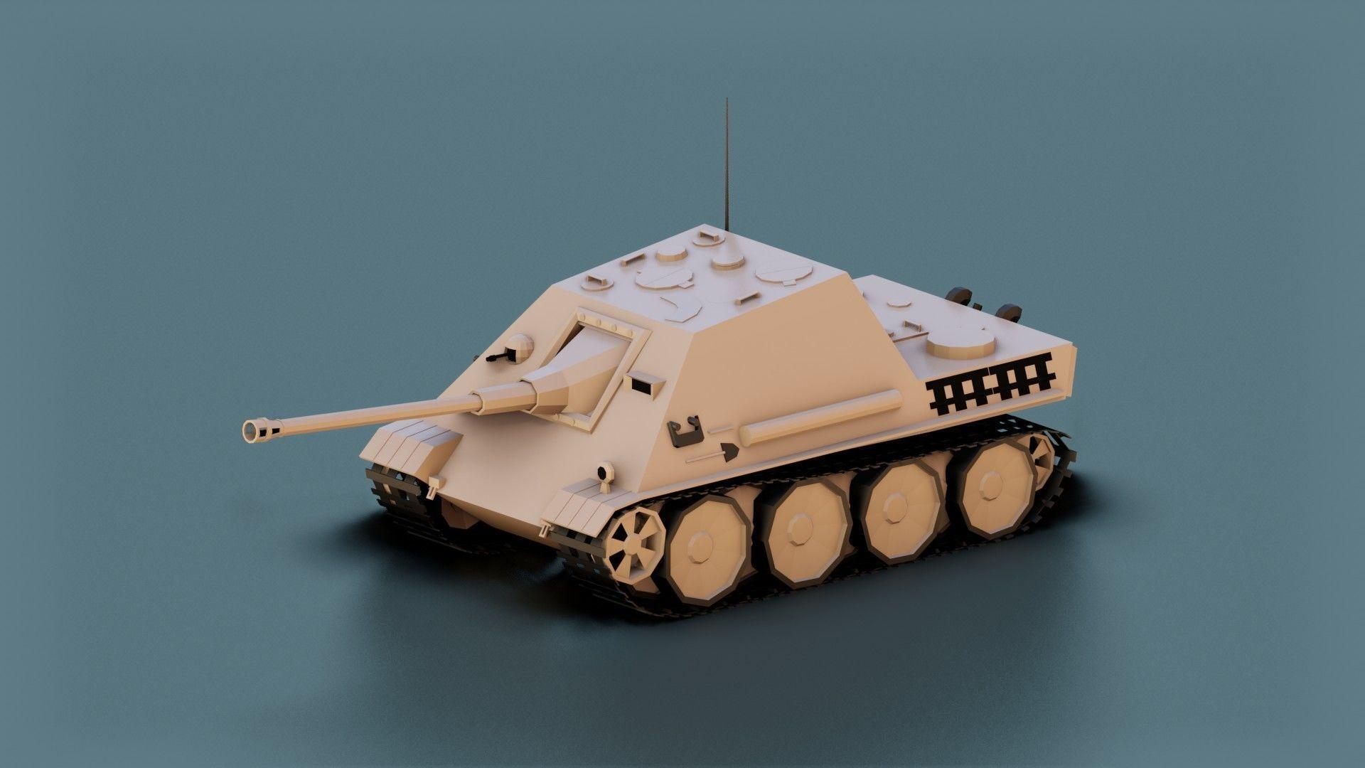 Low Poly Jagdpanther Tank