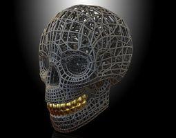 3d print model skull voronoi