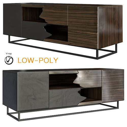Admirable Tv Stands Bellini Modern Living 3D Model 3D Model Caraccident5 Cool Chair Designs And Ideas Caraccident5Info