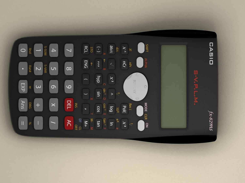 3d Model Casio Scientific Calculator Cgtrader