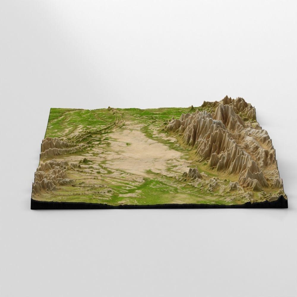 Wasteland Mountain Landscape