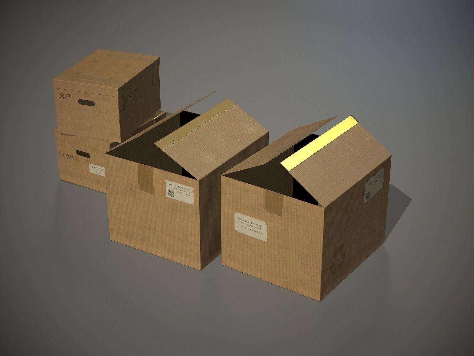 Cardboard Boxes PBR