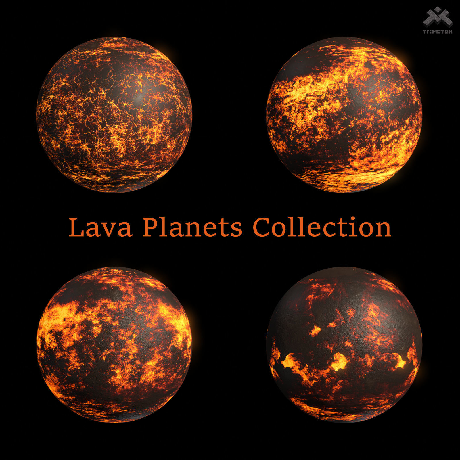Lava Planets Collection - 8k PBR