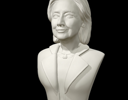 3D printable model Hillary Clinton