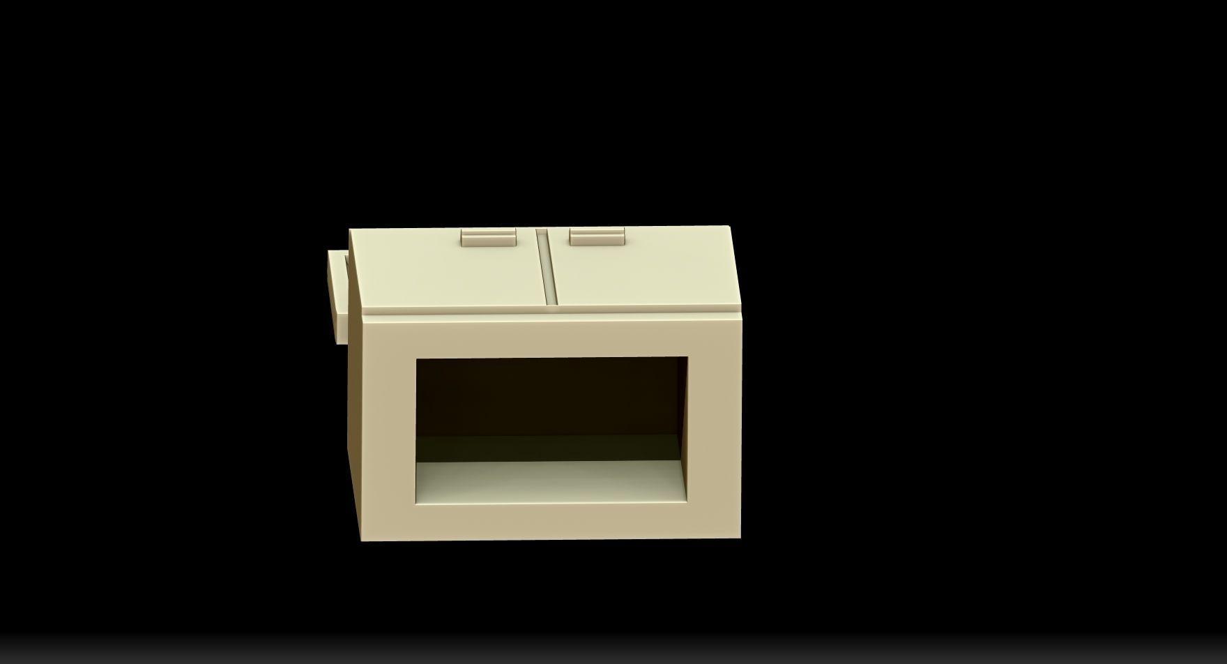 meuble tv 3D Model 3D printable STL  CGTradercom -> Model Meuble