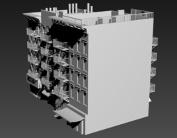 Residential building New York 3D model