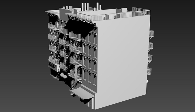 Residential building new york 3d model cgtrader for Model houses in new york