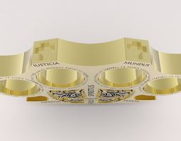 Holy Brass Knuckles 3D print model