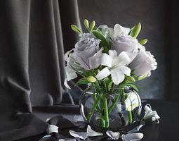 Flowers in vase 2 3D model