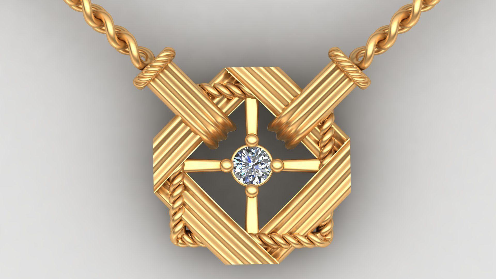 Dior Diamond Gold Necklace