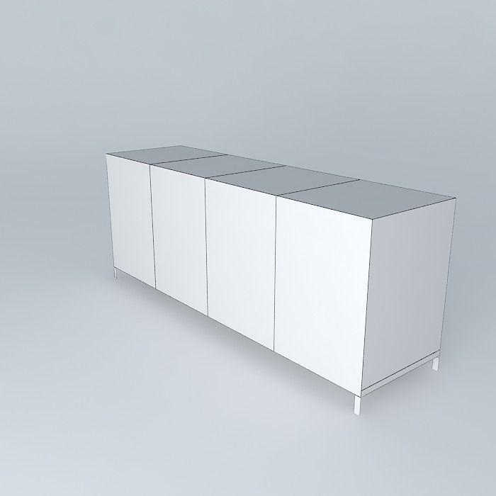 Simple Showcase 3d Model Max Obj 3ds Fbx Stl Skp