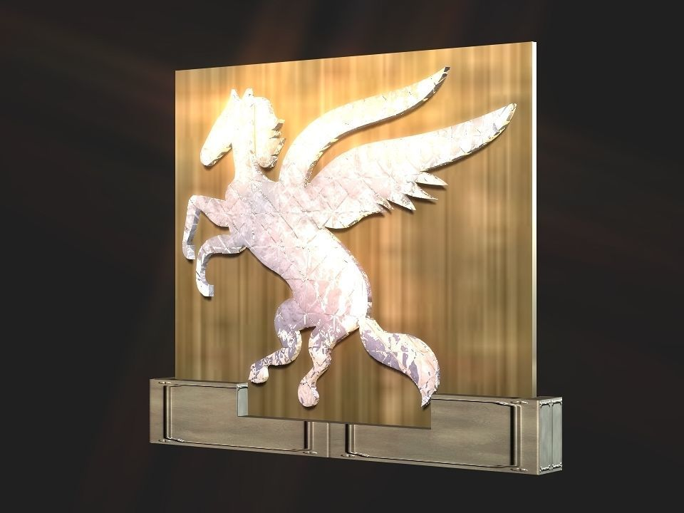 2d 3d Pegasus stand decoration