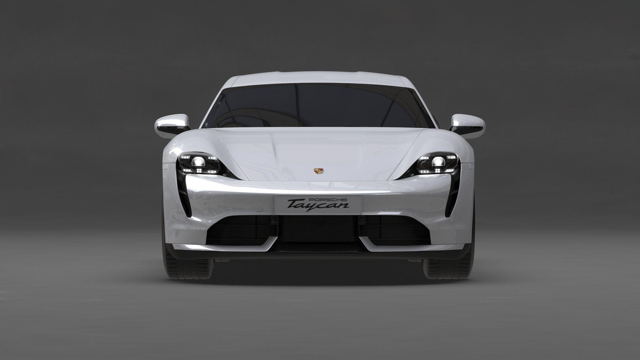 Porsche Taycan 2020 No Interior