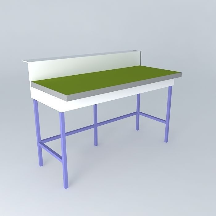 Simple Lab Bench Free 3d Model Max Obj 3ds Fbx Stl Skp