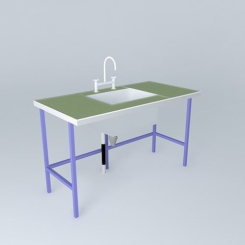 green benchtop lab 3d model max obj 3ds fbx stl skp 1