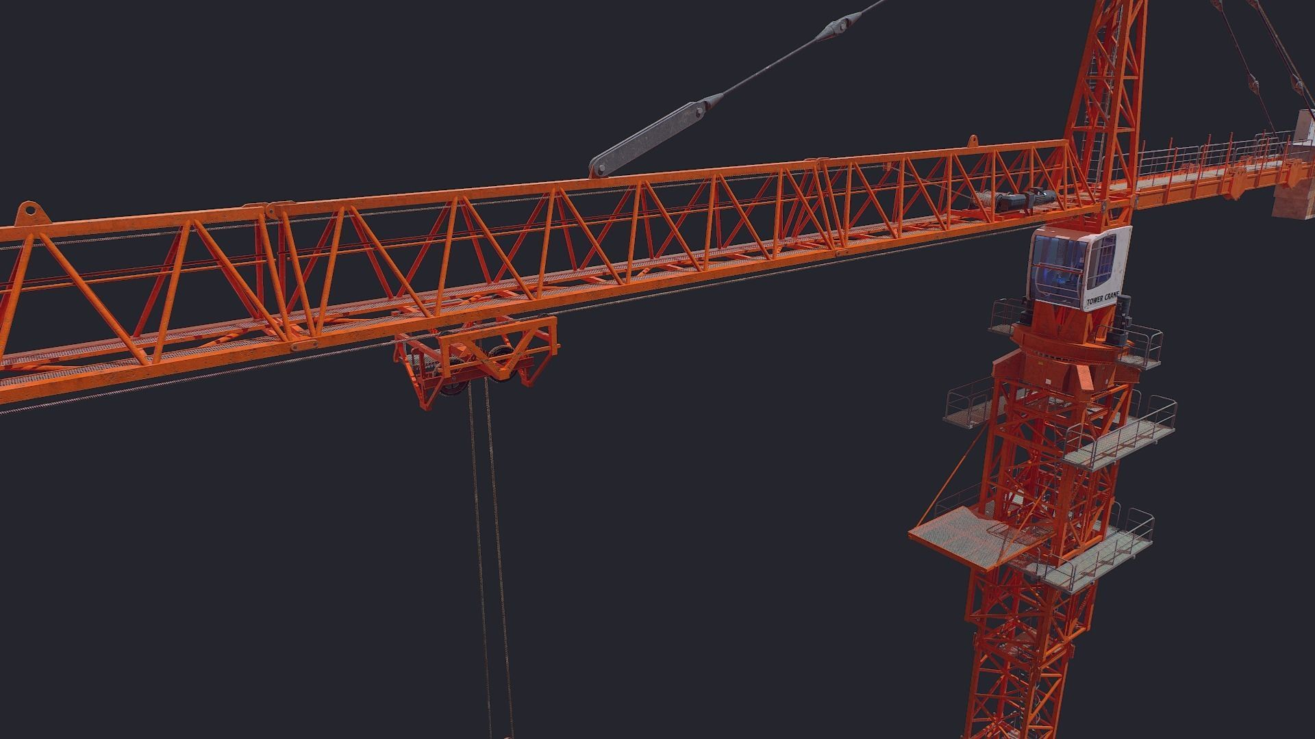 Tower Crane Low Poly