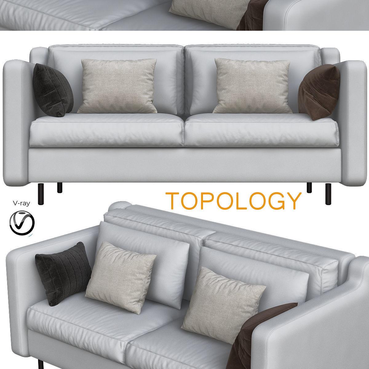 Sofa Modern Styles small Living room | 3D model