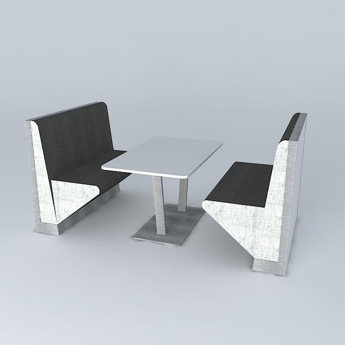 ... restaurant table set 3d model max obj 3ds fbx stl skp 2 ... & restaurant table set 3D model | CGTrader