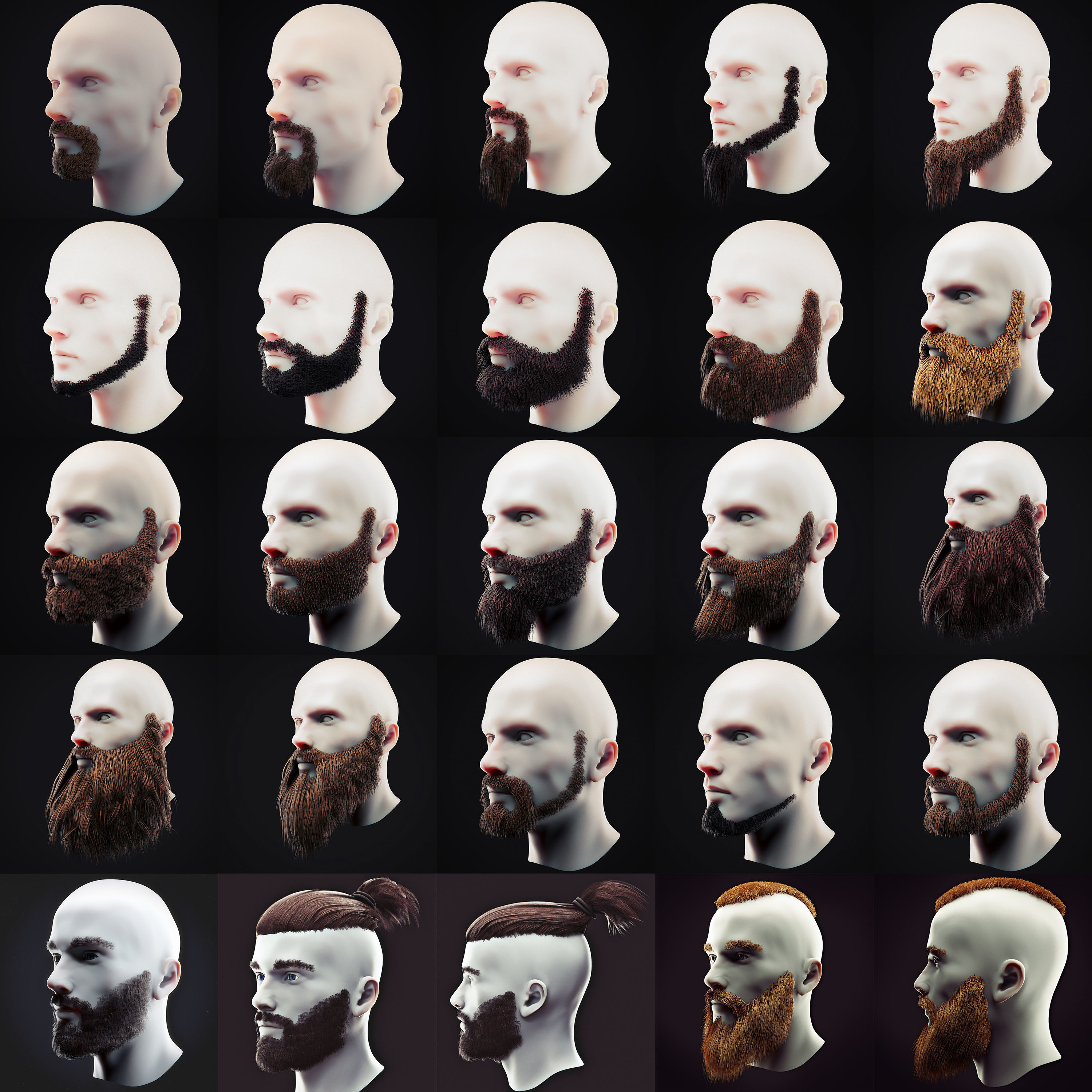 Beard Low Poly Pack