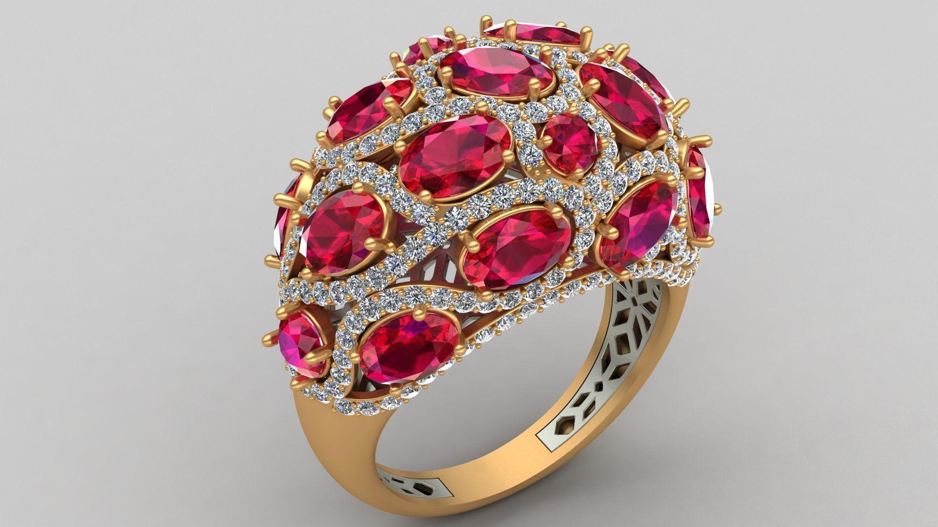 Butani Ruby Diamond Gold Ring