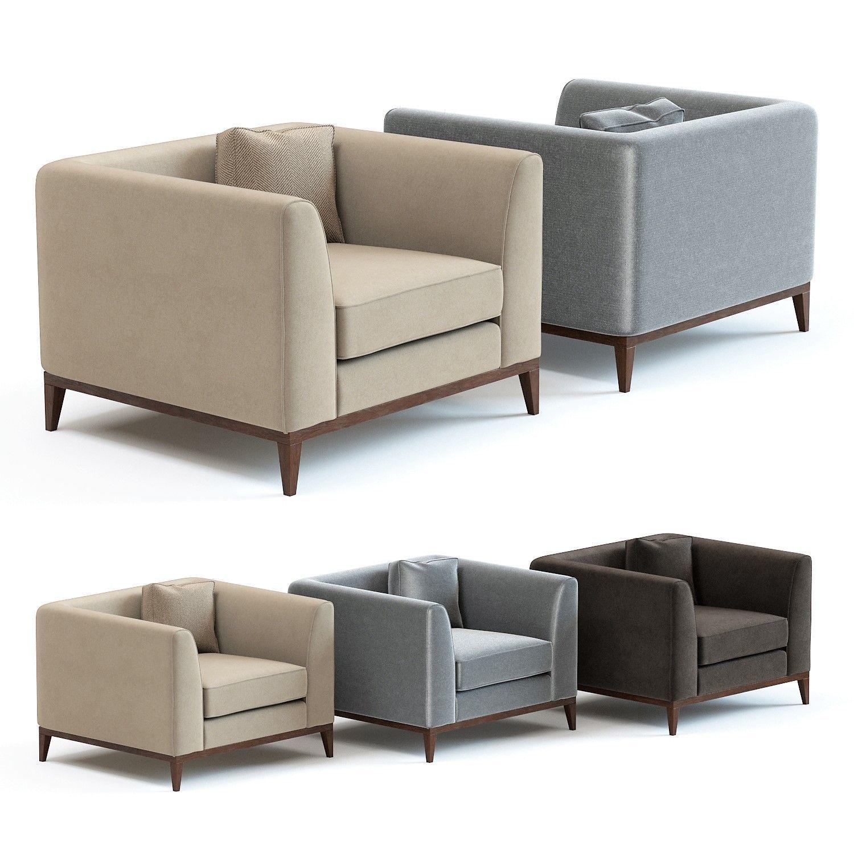 The Sofa and Chair Co - Pollock Armchair  8D model