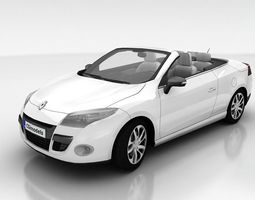3d model realtime renault megane coupe cabriolet with interior