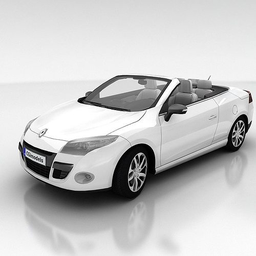 renault megane coupe cabriolet with interior 3d model low-poly max obj fbx mtl 1
