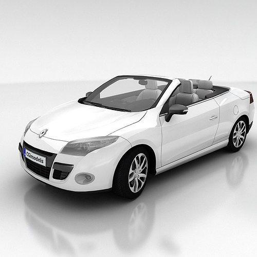 renault megane coupe cabriolet with interior 3d model low-poly max obj mtl fbx 1