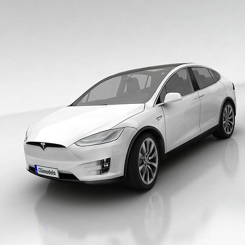tesla x 3d model low-poly max obj fbx mtl tga 1