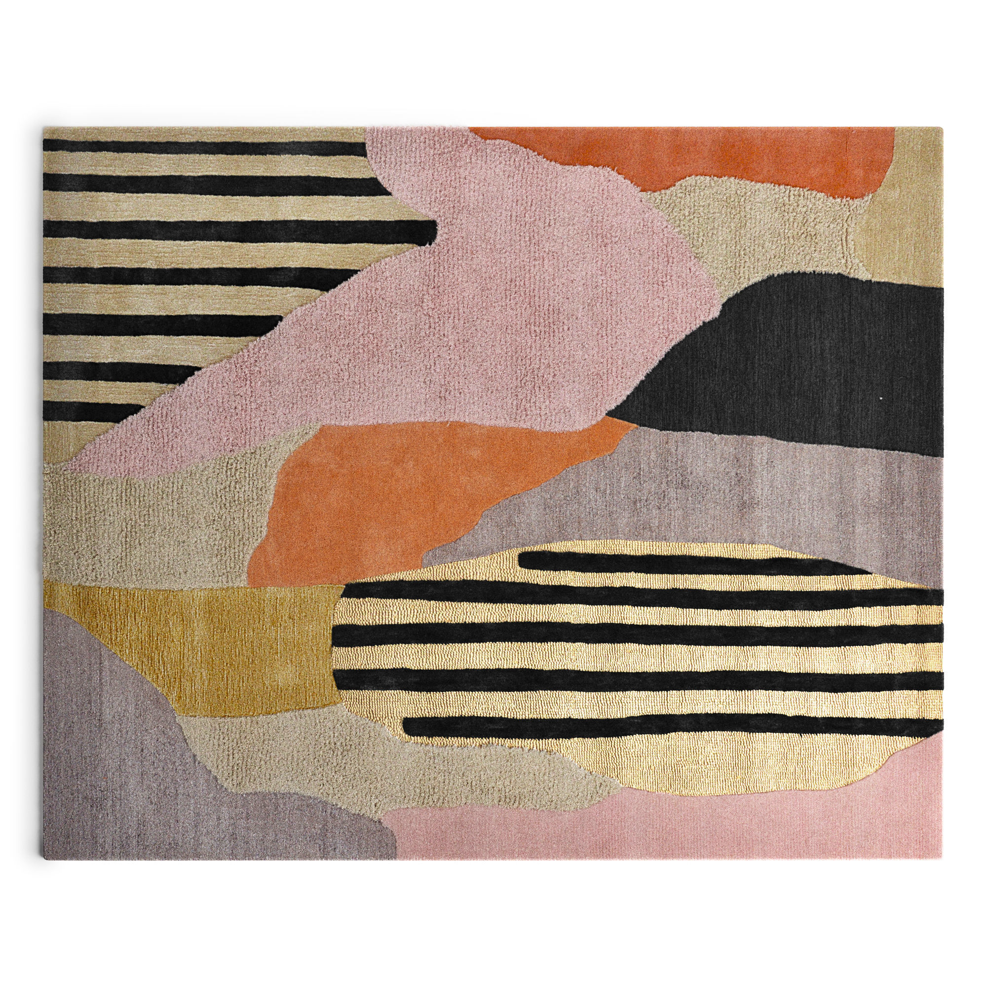 Off beat wool rug by Loomy