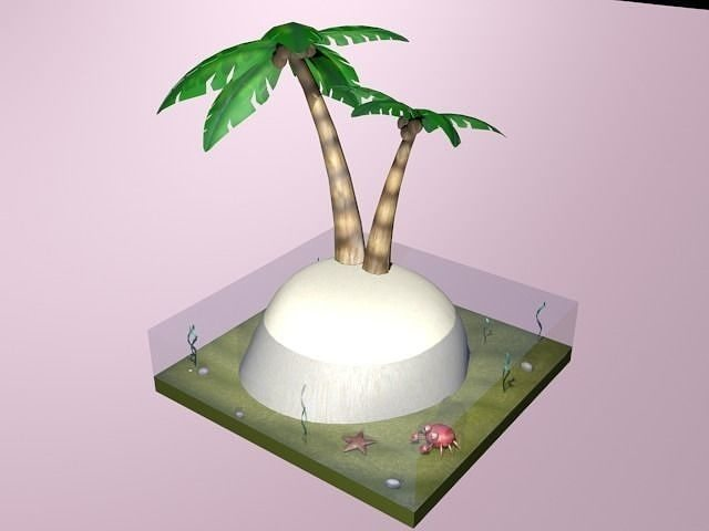 Desert Island Diorama