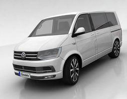 realtime volkswagen t6 multivan 3d model