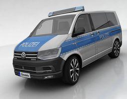 3D asset VW T6 polizei