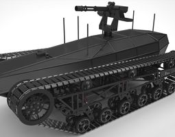 Ripsaw MS1 UGV 3D Model