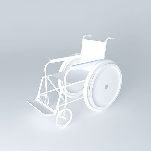 wheelchair for dp 3d model max obj 3ds fbx stl skp 1