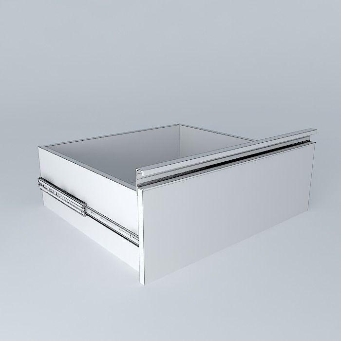 3D model aluminum handle drawer | CGTrader