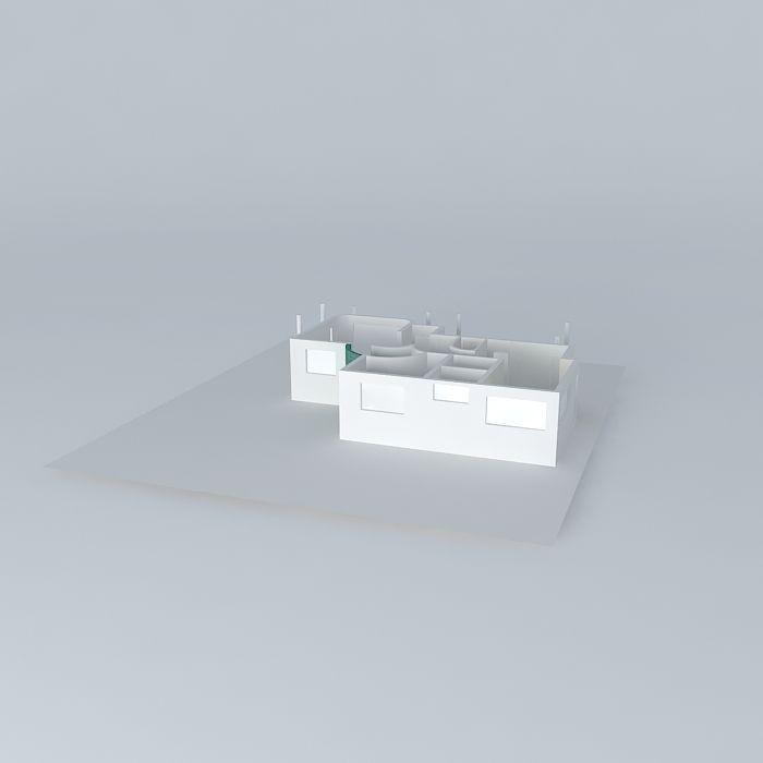 House View Construction Free 3d Model Max Obj 3ds Fbx Stl